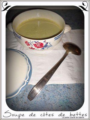 Recette Soupe de côtes de bettes