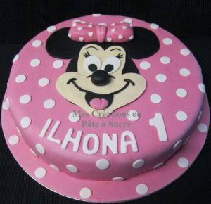 """Recette Gâteau """"Minnie"""" en Pâte à Sucre"""