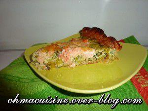 Recette Quiche saumon poireaux