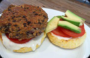 Recette Burger aux haricots noirs et mayonnaise vegan