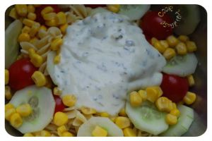 Recette Salade de pâtes sauce yaourt