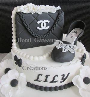 """Recette Gâteau """"Chanel"""" en Pâte à Sucre"""
