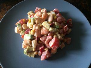 Recette Salade fraîche aux crevettes