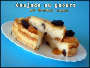 Recette Cuajada au yaourt et fruits secs
