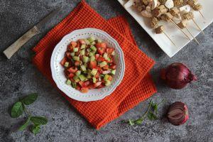 Recette Salade marocaine au concombre et tomates