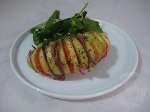 Recette Pommes de terre hérissons coppa oignons rouges