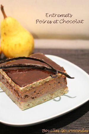 Recette Entremets chocolat et poires à la vanille