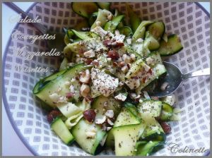 Recette Salade de courgettes crues mozzarella noisettes