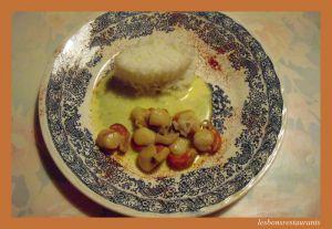 Recette Coquilles saint-jacques au curry