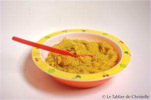 Recette Cuisine pour bébé : Purée de Carottes Coriandre au Poulet