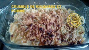 Recette Crumble de rhubarbe et pomme a l'omnicuiseur