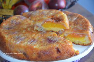 Recette Gâteau aux nectarines et amandes effilées