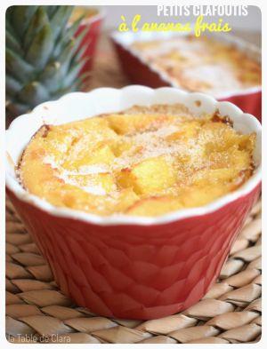 Recette Petits Clafoutis à l'ananas frais
