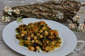 Recette Curry vegan de pois chiches et haricots noir