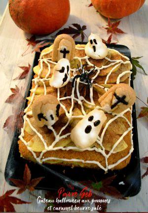 Recette Gâteau halloween aux pommes et caramel beurre salé
