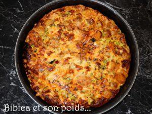 Recette Frittata chorizo et courgette
