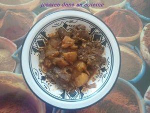 Recette Tajine navarin mouton et ses petits légumes