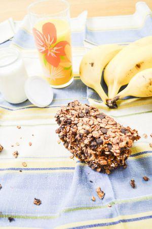 Recette Barres de céréales chocolat & banane