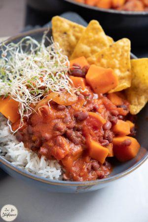 Recette Chili de patates douces et haricots Azuki