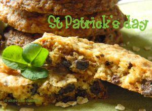 Recette Chocolate chip, oat and raisin cookies pour la Saint Patrick