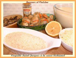 Recette Coquilles Saint-Jacques à la sauce béchamel