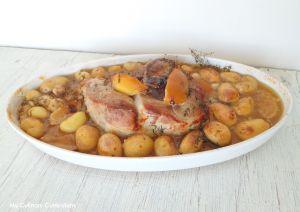 Recette Rouelle de porc aux citrons confits (Rouelle pork with candied lemons)