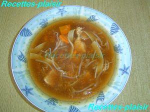 Recette Soupe de poulet