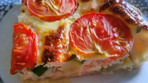 Recette Quiche courgettes-saumon-oseille