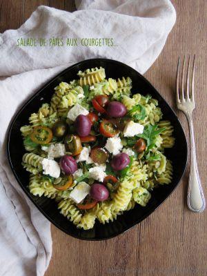 Recette Salade de pâtes aux courgettes