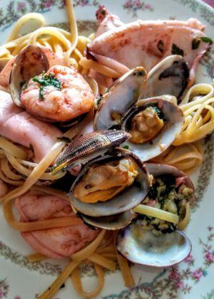 Recette Linguine aux fruits de mer