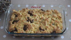 Recette Crumble pommes et chocolat au thermomix ou sans