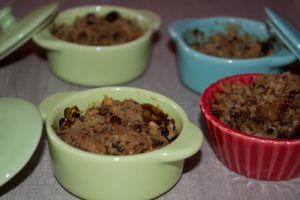 Recette Minis Crumble pommes et chocolat