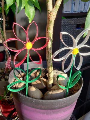 Recette Fleurs à piquer en rouleau de papier toilette