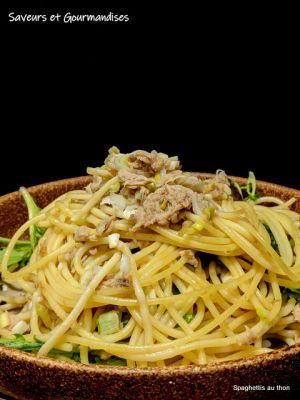 Recette Spaghettis au thon