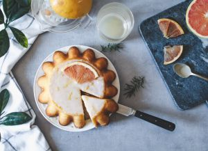 Recette Gâteau moelleux au pamplemousse