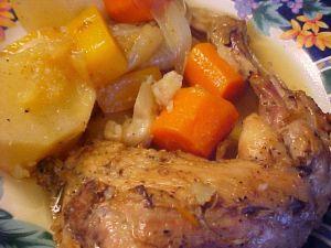 Recette Braisé de cuisses de poulet du verger