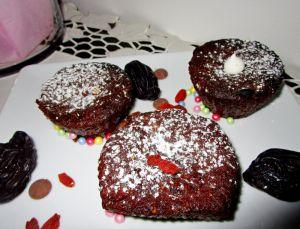 Recette Mini Moelleux au chocolat /pruneaux/ baies de goji - sans beurre