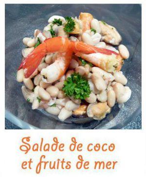 Recette Salade de coco aux fruits de mer