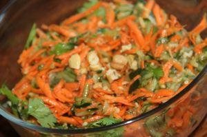 Recette Salade concombre et carotte a la thailandaise