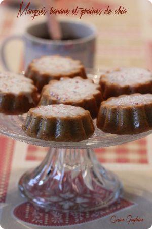 Recette Petits gâteaux à la banane et aux graines de chia