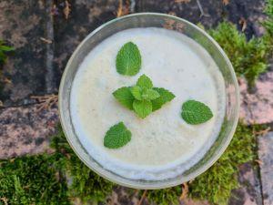 Recette Crème de concombre à la noix de coco (céto)