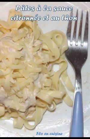Recette Pâtes à la sauce citronnée et au thon