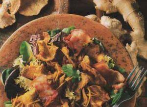 Recette Salade de pieds-de-mouton au curry et au lard