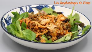 Recette Salade lentilles, poulet, ananas
