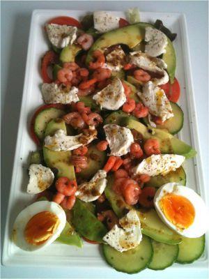Recette Avocat : Salade Avocats Crevettes