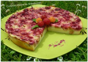 Recette Cuajada rhubarbe framboises