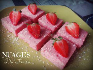 Recette Nuages de fraises