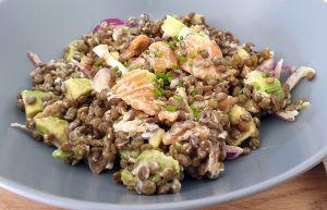 Recette Salade de lentilles et saumon fumé