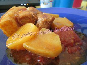 Recette Rouelle de porc aux pommes de terre et tomates