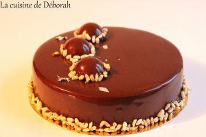 Recette Entremets chocolat, yuzu et gianduja